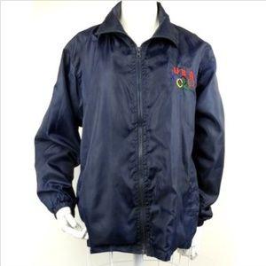 VTG 90s Olympics USA Windbreaker Jacket Navy M